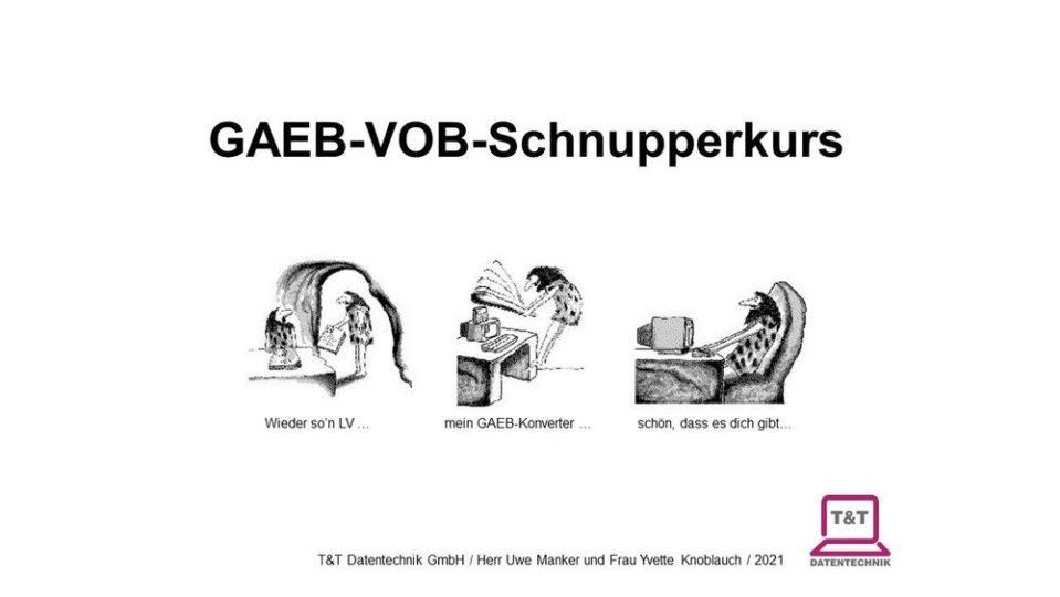 Online-GAEB-VOB-Schnupperkurs 03.09.2021 (Vortrag   Online ...